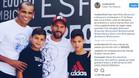 La imagen de Rivaldo y sus hijos junto a Leo Messi en la Ciudad Deportiva Joan Gamper