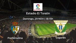 Jornada 15 de la Segunda División: previa del duelo SD Ponferradina - Leganés