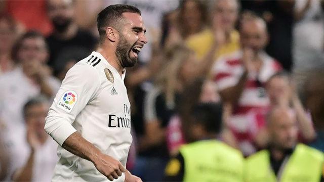 LALIGA | Real Madrid - Getafe (2-0): Carvajal marcó el primer tanto del Madrid en liga