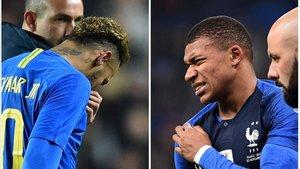 Mbappé y Neymar podrían perderse el duelo frente al Liverpool