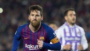 Messi, autor del gol