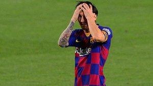 Messi dispuso de claras ocasiones, hacia el final del partido, para marcar su gol 700. Le faltó muy poco...