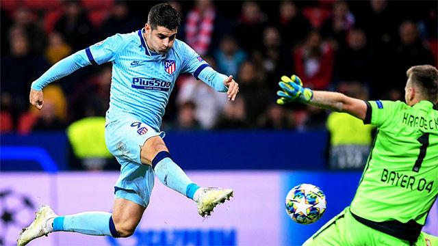Morata marcó el gol del honor ante el Leverkusen