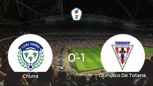 El Olímpico De Totana logra una ajustada victoria ante el Churra (0-1)
