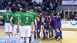 Partido de alta tensión el que disputaron Barça y Liceo en Riazor