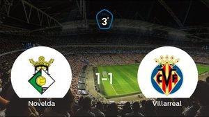 Un punto para cada uno en el Novelda-Villarreal C (1-1)