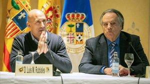Rubiales reunido el pasado enero con el presidente de la Federación Aragonesa