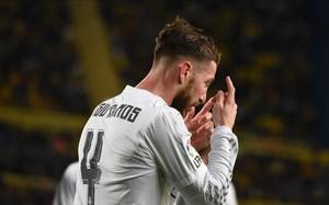 Sergio Ramos sufre de problemas en la espalda