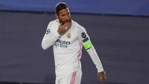 Sergio Ramos trató de animar a sus compañeros