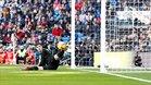 Thibaut Courtois poco pudo hacer en los dos goles encajados