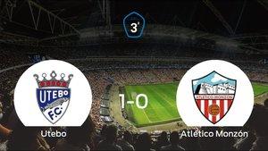 El Utebo gana 1-0 al Atlético Monzón en el Santa Ana