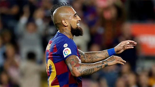 Arturo Vidal aprovechó un gran balón entre líneas de Arthur para aumentar la ventaja