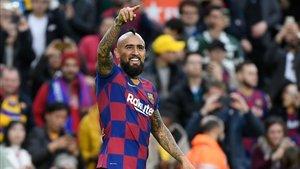 Arturo Vidal vuelve a sonreír