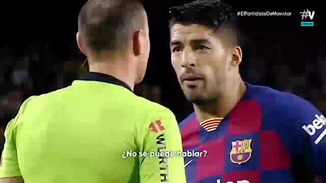 Así fue la conversación entre Mateu Lahoz y Luis Suárez