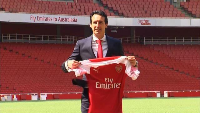 Así fue la presentación de Emery con el Arsenal