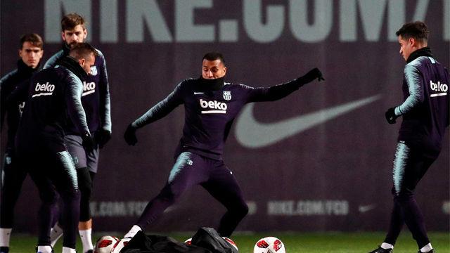 Así ha sido el último entreno del Barça antes de enfrentarse al Levante