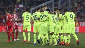 El Barça se llevó un derbi muy disputado