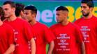 El Barça lució camisetas de apoyo a los refugiados sirios
