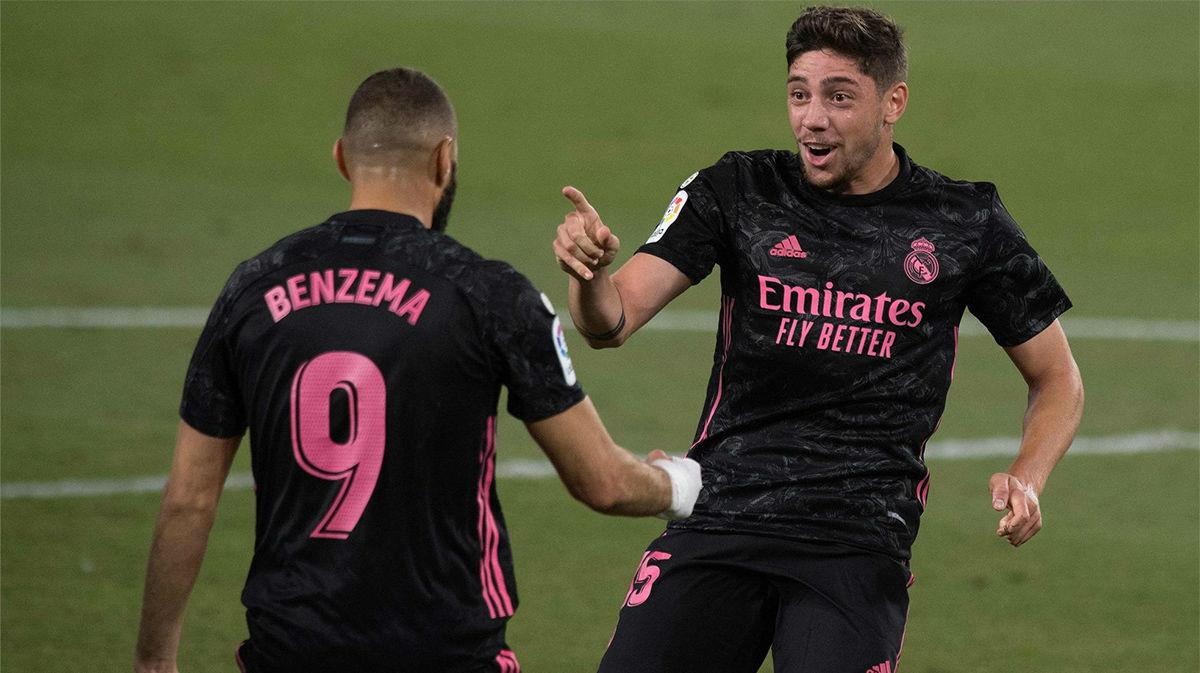 Benzema lo fabricó y Valverde remató: así se adelantó el Madrid ante el Betis