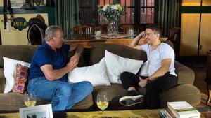 Bertín y Lorenzo, durante la entrevista