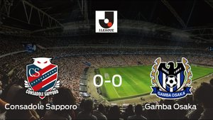 El Consadole Sapporo no pudo conseguir la victoria ante el Gamba Osaka (0-0)