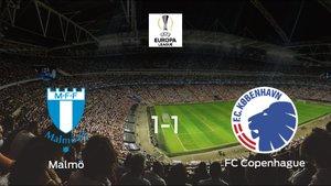 El Copenhague logra un empate a uno frente al Malmö