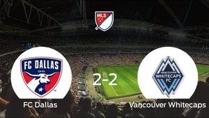 El FC Dallas y el Vancouver Whitecaps consiguen un punto tras empatar a 2 en el encuentro