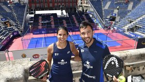 Delfi Brea y Sanyo Gutiérrez en la presentación del Valladolid Master