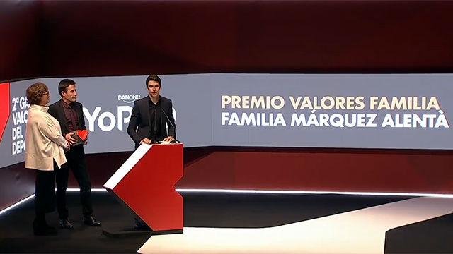 La familia Márquez Alentà, Premio Valores Familia