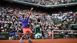 Federer, en una edición de Roland Garros