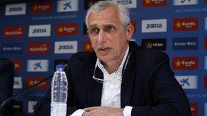 García Pont en rueda de prensa