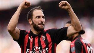 Gonzalo Higuaín se fue de la Juventus tras la llegada de Cristiano Ronaldo