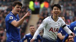 Harry Maguire recrimina a Son, delantero del Tottenham