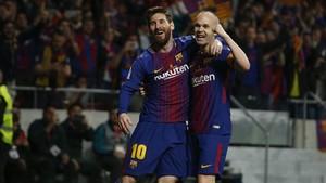 Iniesta y Messi realizaron una exhibición en la final de Copa