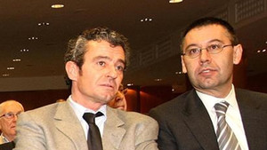 Jaume Masferrer, nuevo director del Área de Presidencia, junto a Josep Maria Bartomeu