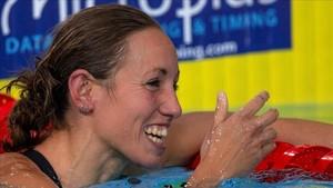 Jessica Vall, sonrisa de plata en los 200 metros braza