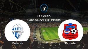 Jornada 25 de la Tercera División: previa del partido Ourense - CD Estradense