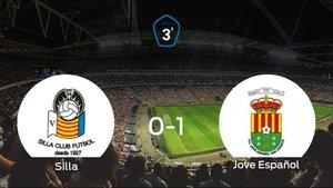 El Jove Español se queda con los tres puntos tras derrotar 0-1 al Silla Cf