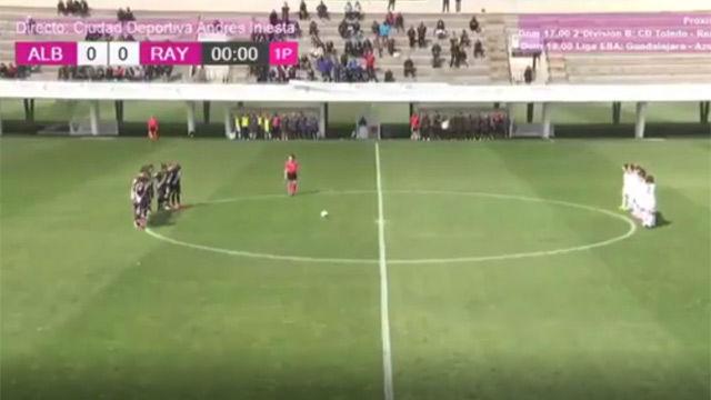 Lamentable polémica en el minuto de silencio del Albacete - Rayo