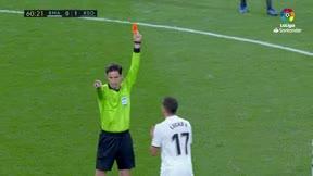 Lucas Vázquez vio la segunda amarilla y fue expulsado
