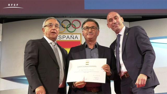 Luis Rubiales participó en el homenaje de los deportistas de los Juegos Olímpicos de 1980