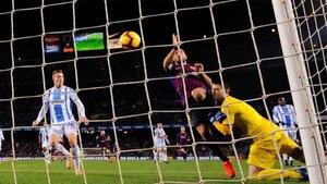 Luis Suárez marcó el segundo gol del Barcelona