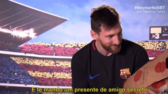Messi y su regalo para Neymar
