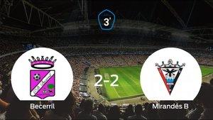 El Mirandés B saca un punto al Becerril a domicilio (2-2)
