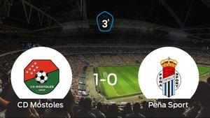 El Móstoles se aprovecha de su ventaja de campo y se adelanta en los playoff de ascenso de Tercera División (1-0)