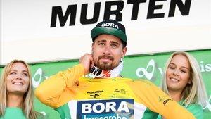 Peter Sagan, tras lograr el triunfo.