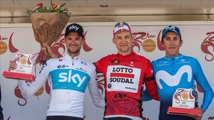 El podio de la Vuelta a Andalucía