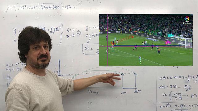 Profesor de física explica por qué la vaselina de Messi al Betis es el gol perfecto