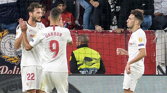 El Sevilla se exhibe ante el Dudelange