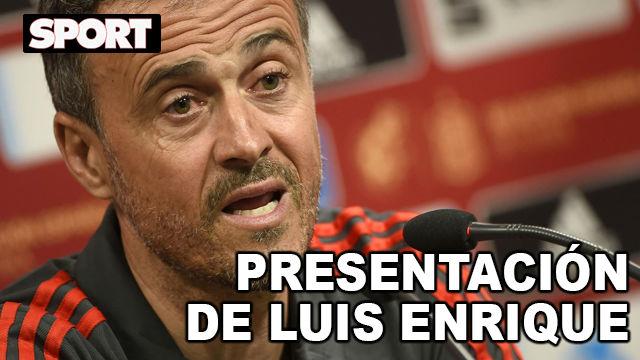 Sigue en directo la presentación de Luis Enrique